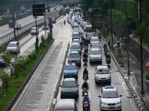 Indonesia, Jakarta style of traffic jam